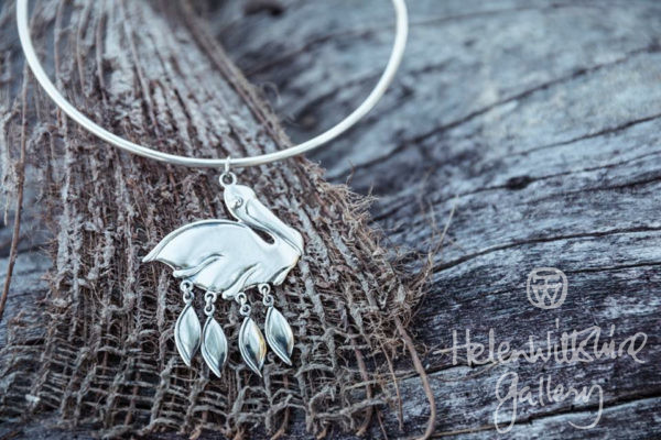 Pelican Pendant - Sterling Silver