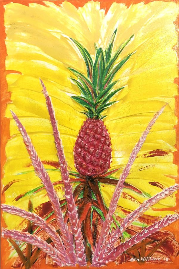 Pink Pineapple painting by Ben Wiltshire