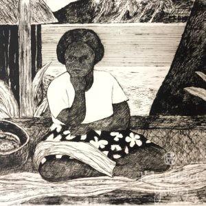 Island Woman by Ray Crooke