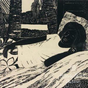 Sleeping Figure Screenprint by Ray Crooke
